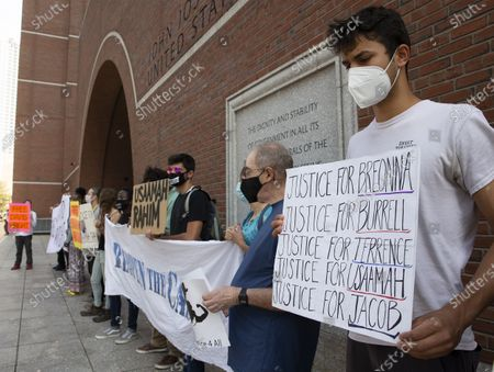 Editorial photo of Protest at Federal courthouse, Boston, USA - 28 Sep 2020