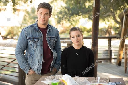 Stock Image of Adam Devine as Andy and Gillian Jacobs as Darkwood