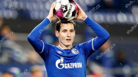 Schalke's Sebastian Rudy plays during the German Bundesliga soccer match between FC Schalke 04 and Werder Bremen in Gelsenkirchen, Germany