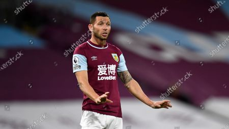 Burnley's Phil Bardsley during the English Premier League soccer match between Burnley and Southampton at Turf Moor in Burnley, England