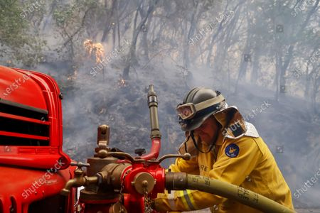 Editorial photo of Glass Fire in Napa County, California, St Helena, USA - 28 Sep 2020