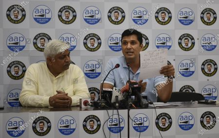 Editorial picture of Press Conference Of AAP Party, New Delhi, Delhi, India - 28 Sep 2020