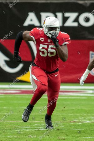 Arizona Cardinals linebacker Chandler Jones (55) in action against the Detroit Lions during an NFL football game, in Glendale, Ariz. The Lions won 26-23