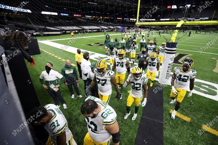 Editorial image of Packers Saints Football, New Orleans, United States - 27 Sep 2020