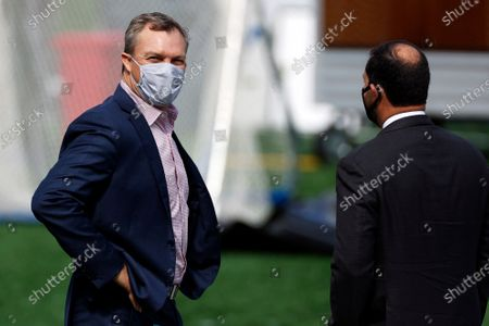 San Francisco 49ers general manager John Lynch prior to an NFL football game against the New York Giants, in East Rutherford, N.J