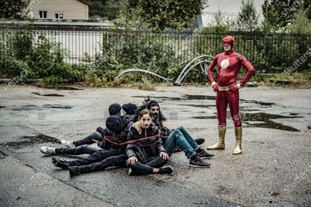 Editorial picture of Superheroes come together for 10 year old boy, Saint-Chamond, France - 27 Sep 2020