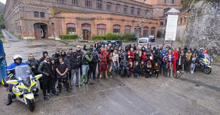 Editorial photo of Superheroes come together for 10 year old boy, Saint-Chamond, France - 27 Sep 2020