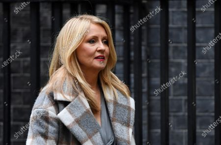 Esther McVey leaves No.11 Downing Street.