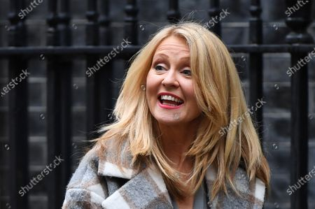 Stock Photo of Esther McVey leaves No.11 Downing Street.