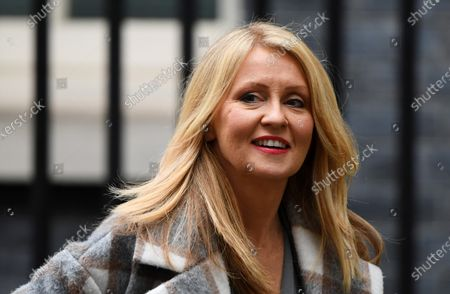Stock Picture of Esther McVey leaves No.11 Downing Street.