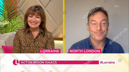 Stock Image of Lorraine Kelly, Jason Isaacs