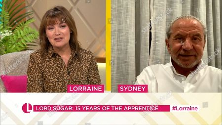 Stock Picture of Lorraine Kelly, Lord Alan Sugar