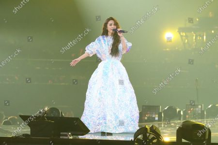 Stock Image of Hebe Tien performs during her 'One World Tour Concert'