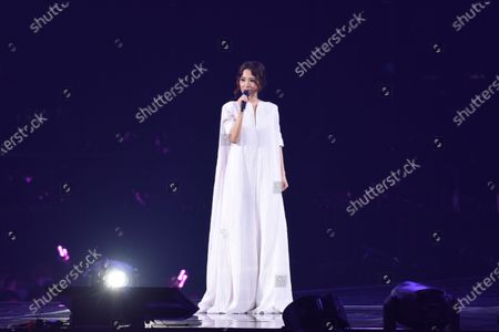 Stock Picture of Hebe Tien performs during her concert
