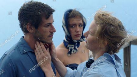 Gaspard Ulliel as Igor (amant de Margot), Adele Exarchopoulos as Margot Vasilis (le actrice) and Sandra Huller as Mika (le realisateur)