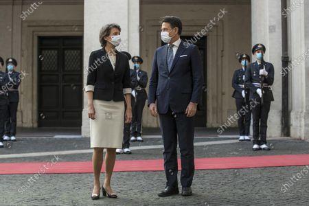 Italian Prime Minister Giuseppe Conte meets the President of the Swiss Confederation Simonetta Sommaruga, Chigi Palace in Rome, 29 September 2020.