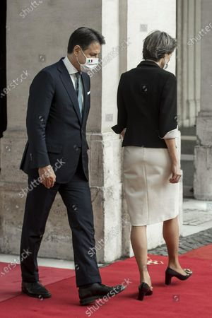Italian Prime Minister Giuseppe Conte meets the President of the Swiss Confederation Simonetta Sommaruga, Chigi Palace in Rome, Italy, 29 September 2020.