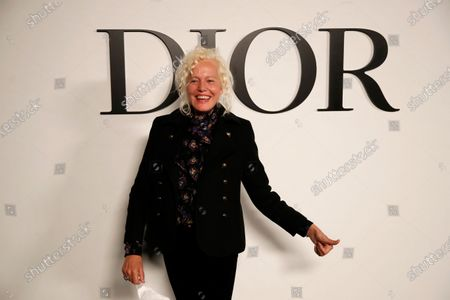 Stock Photo of German photographer Ellen von Unwerth poses before Dior's Spring-Summer 2021 fashion collection before the show during the Paris fashion week