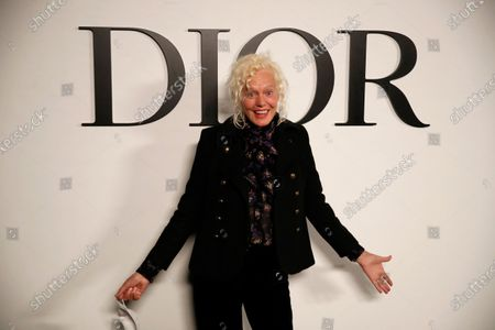 German photographer Ellen von Unwerth poses before Dior's Spring-Summer 2021 fashion collection before the show during the Paris fashion week