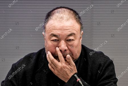 Chinese activist and artist Ai Weiwei attends a panel discussion and screening of his documentary film 'Coronation,' about the lockdown in Wuhan, China during the Covid-19 outbreak, at the German parliament 'Bundestag' in Berlin, Germany, 29 September 2020. The panel discussion on the theme of human rights in Hong Kong was organized by the Cinema for Peace initiative.