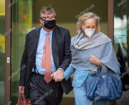 Hedge fund boss Crispin Odey who is charged with indecent assault leaving Westminster magistrates court with his wife Nichola Pease, who is also a fund manager.