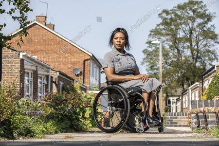 Editorial photo of Anne Wafula Strike, former Paralympian, photoshoot, Harlow, Essex, UK - 20 Sep 2020