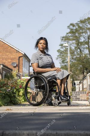 Editorial picture of Anne Wafula Strike, former Paralympian, photoshoot, Harlow, Essex, UK - 20 Sep 2020