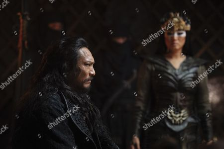 Jason Scott Lee as Bori Khan and Li Gong as Xianniang