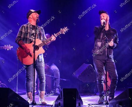 Stock Picture of Chris Lucas and Preston Brust of LOCASH perform