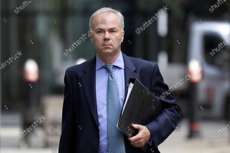 Justin Rushbrooke QC who is representing Meghan, the Duchess of Sussex arrives at the High Court in London, . A judge at the High Court in London will rule on the latest stage of the Duchess of Sussex's privacy claim against Associated Newspapers Limited (ANL