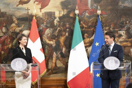 Editorial image of Giuseppe Conte receives Simonetta Sommaruga, Chigi Palace, Rome, Italy - 29 Sep 2020