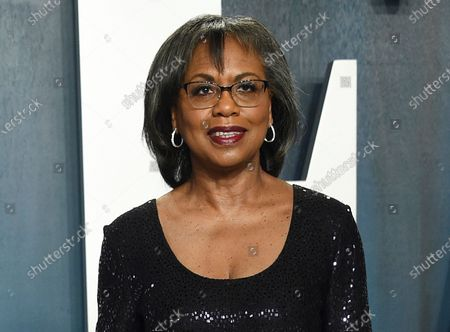 Anita Hill arrives at the Vanity Fair Oscar Party in Beverly Hills, Calif. on . Three years into the #MeToo movement, a major Hollywood survey led by Anita Hill has found little faith in the ranks of the entertainment industry that sexual harassers will be held to account. The survey by the Hollywood Commission, chaired by Hill, found that 65 percent of nearly 10,000 respondents did not believe a powerful person would be held accountable for harassing someone with less power