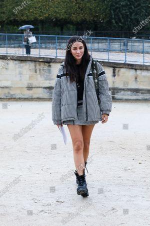 Tamara Kalinic at the Dior Spring Summer 2021 fashion show in the Jardin des Tuileries