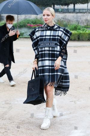 Leonie Hanne at the Dior Spring Summer 2021 fashion show in the Jardin des Tuileries