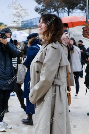 Jeanne Damas at the Dior Spring Summer 2021 fashion show in the Jardin des Tuileries