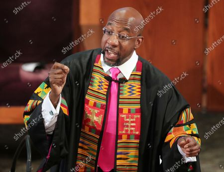 Rev. Raphael G. Warnock delivers the eulogy for Rayshard Brooks' funeral at Ebenezer Baptist Church in Atlanta. A pair of new high-profile endorsements are adding fuel to an already contentious special election for a U.S. Senate seat in Georgia. Former Gov. Nathan Deal has endorsed Republican Rep. Doug Collins in his bid to unseat Sen. Kelly Loeffler, a fellow Republican. Former president Jimmy Carter endorsed Democrat Raphael Warnock in the race