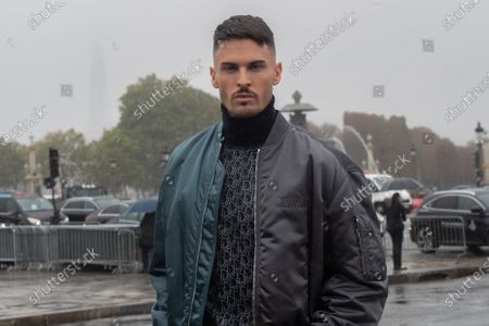 Baptiste Giabiconi poses for the media upon arrival to attend the Dior Womenswear Spring/Summer 2021 show as part of the Paris Fashion Week, in Paris, France, 29 September 2020. The fashion week runs from 29 September to 06 October 2020.