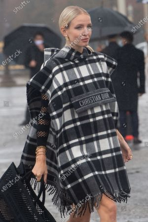 Leonie Hanne poses for the media upon arrival to attend the Dior Womenswear Spring/Summer 2021 show as part of the Paris Fashion Week, in Paris, France, 29 September 2020. The fashion week runs from 29 September to 06 October 2020.