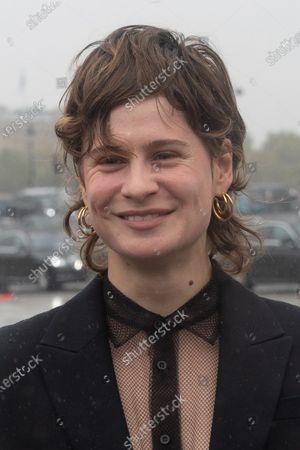 French singer/songwriter Heloise Letissier also known professionally as 'Christine and the Queens' poses for the media upon arrival to attend the Dior Womenswear Spring/Summer 2021 show as part of the Paris Fashion Week, in Paris, France, 29 September 2020. The fashion week runs from 29 September to 06 October 2020.