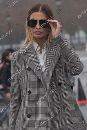 Actress Sveva Alviti poses for the media upon arrival to attend the Dior Womenswear Spring/Summer 2021 show as part of the Paris Fashion Week, in Paris, France, 29 September 2020. The fashion week runs from 29 September to 06 October 2020.