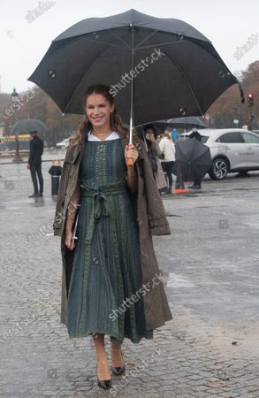Stock Picture of Eugenie Niarchos poses for the media upon arrival to attend the Dior Womenswear Spring/Summer 2021 show as part of the Paris Fashion Week, in Paris, France, 29 September 2020. The fashion week runs from 29 September to 06 October 2020.