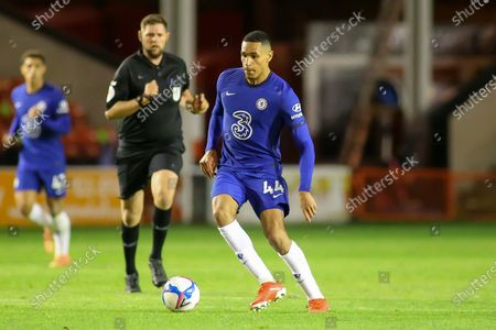 Jonathan Russell of Chelsea (44) with the ball during the EFL Trophy match between Walsall and U21 Chelsea at the Banks's Stadium, Walsall