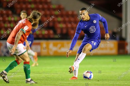 Stock Picture of Jonathan Russell of Chelsea (44) with the ball during the EFL Trophy match between Walsall and U21 Chelsea at the Banks's Stadium, Walsall