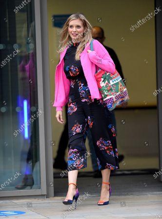 Rachel Riley leaves the Countdown Studios at Media City