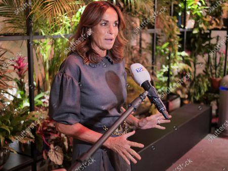 Stock Image of Italian journalist Cristina Parodi, TV presenter and writer