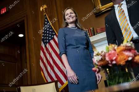 Editorial photo of Amy Coney Barrett Capitol Hill Courtesy Calls, Washington, District of Columbia, USA - 29 Sep 2020