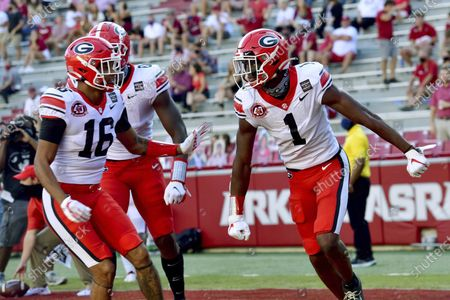 Editorial picture of Georgia Arkansas Football, Fayetteville, United States - 26 Sep 2020