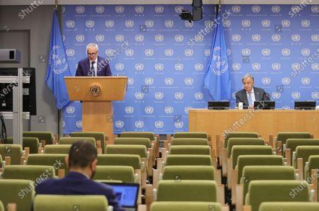 Editorial image of United Nations Coronavirus presser, New York, USA - 29 Sep 2020