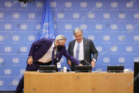 Editorial photo of United Nations Coronavirus presser, New York, USA - 29 Sep 2020