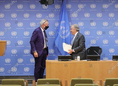 Editorial picture of United Nations Coronavirus presser, New York, USA - 29 Sep 2020